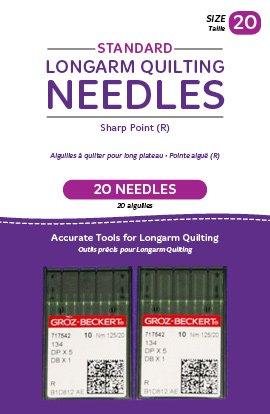 Standard Longarm Needles wo Packages of 10 (20/125-R Sharp) QM00272-2