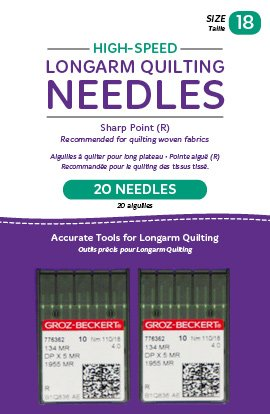 High-Speed Longarm Needles Two Packages of 10 (Crank 110/18 134MR-4.0) QM13188-2