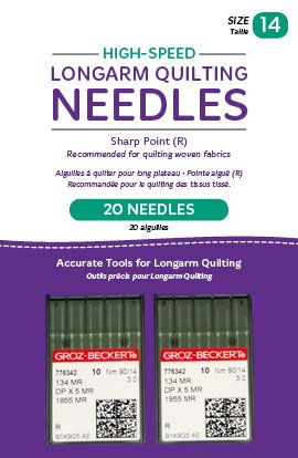 High-Speed Longarm Needles Two Packages of 10 (Crank 90/14 134MR-3.0) QM13251-2