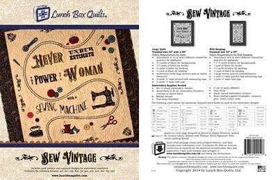 Sew Vintage Pattern QP-SV-DD