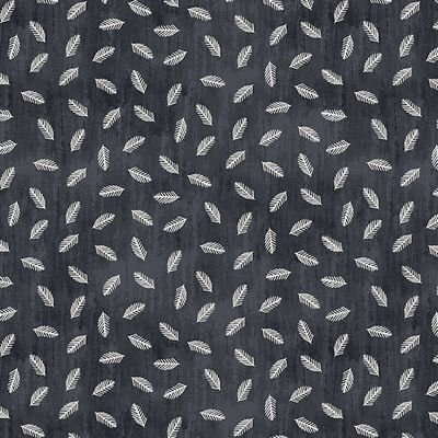 Jersey Print- White Feathers on Dark Blue Gray ST19-017-V11
