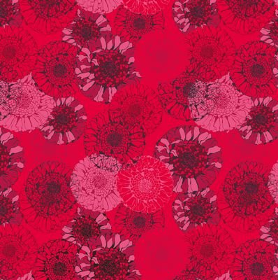 Jersey Knit Print - Tonal Sunflower Red ST19-146-V11