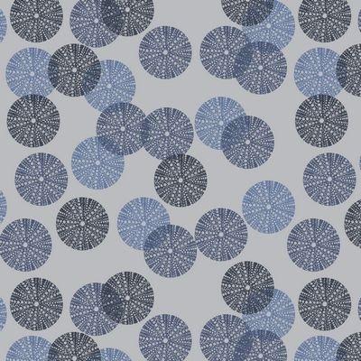 Jersey Knit Print - Avalana Dots Blue ST19-625-V11