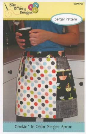 Cookin' In Color Serger Apron Pattern SWASP23