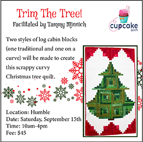Log Cabin Christmas Tree Quilt.Humble Location Trim The Tree Quilt
