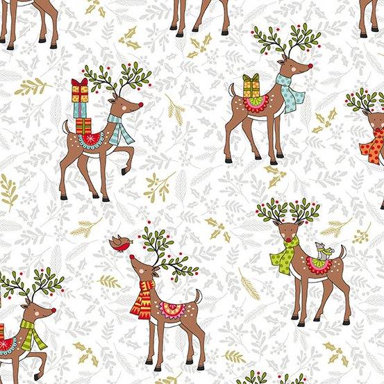 Festive Reindeer White TP-2119-1