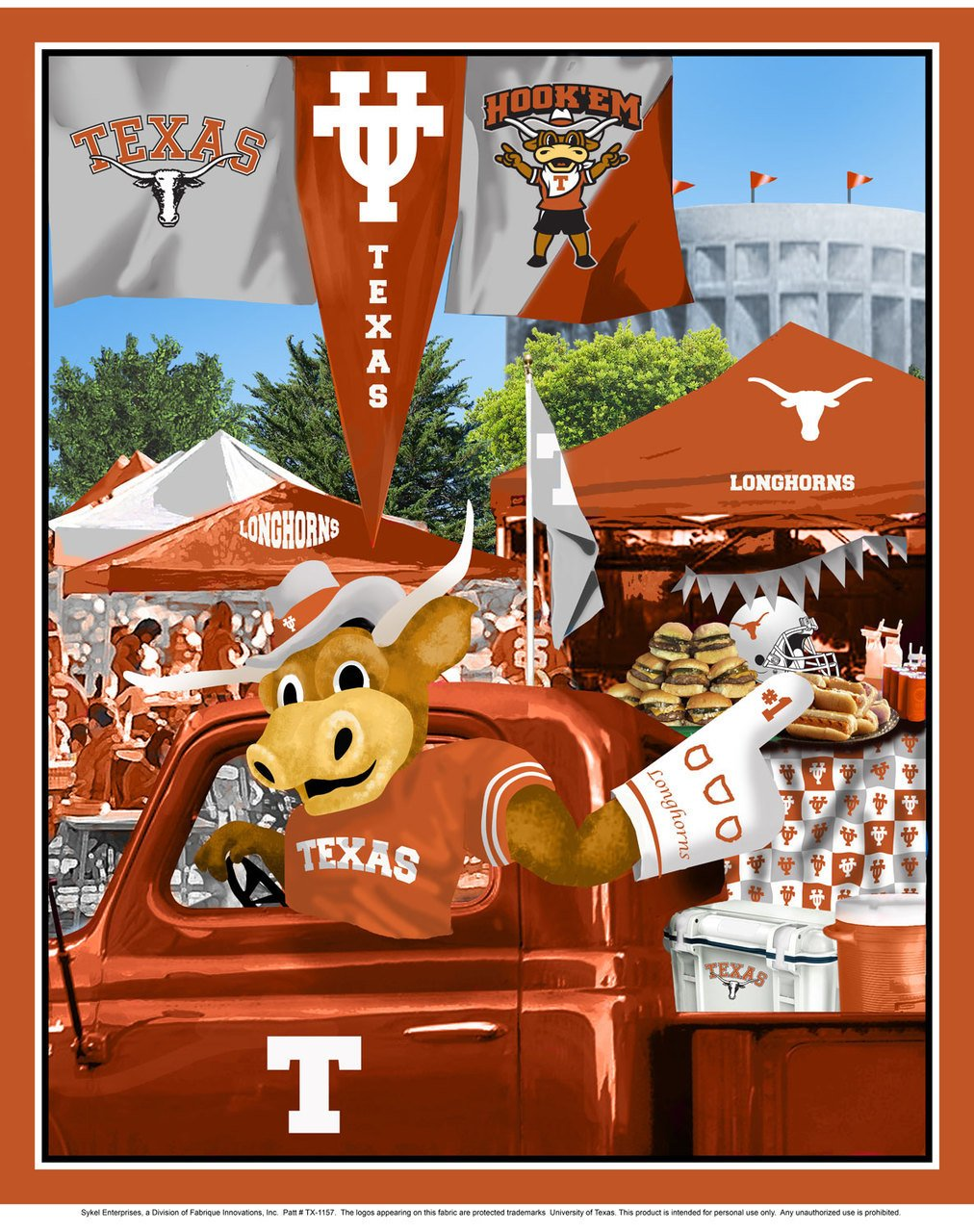 University of Texas Tailgate Panel 36 x 44