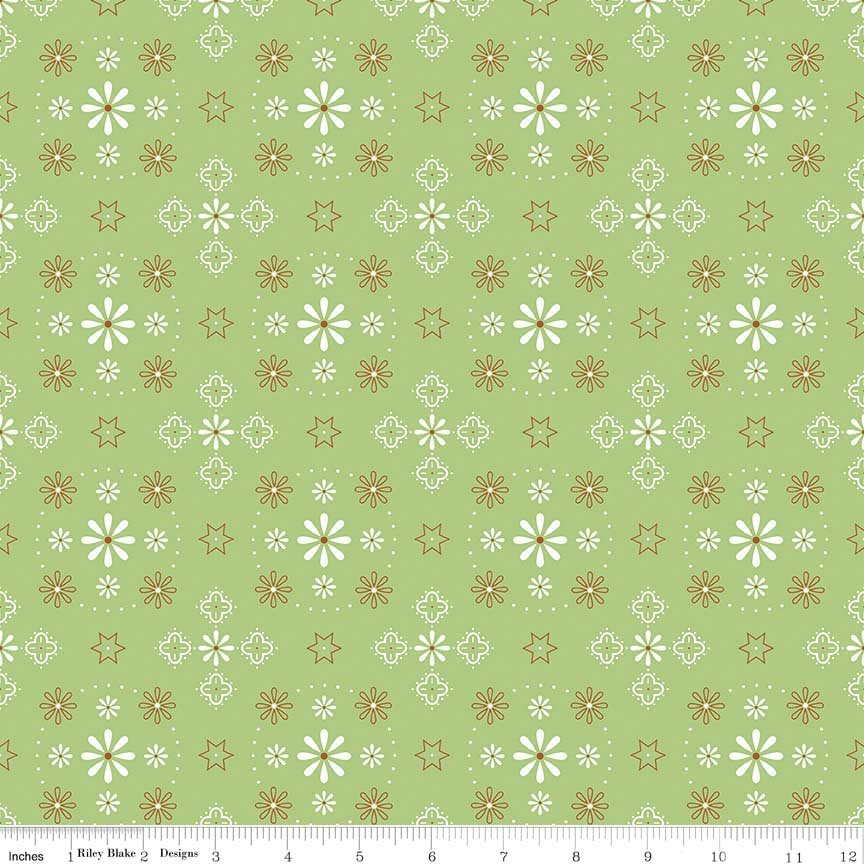 Bee Backings & Borders Bandana Green 107/108 Wide WB6420-GREEN