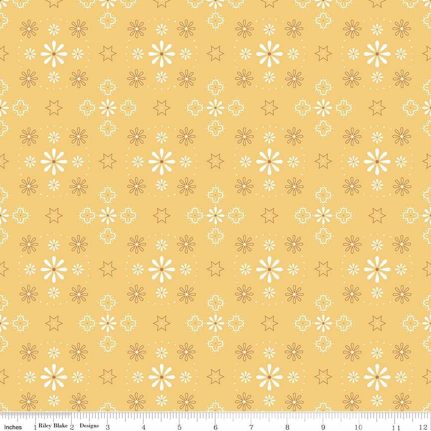 Bee Backings & Borders Bandana Honey 107/108 Wide WB6420-HONEY