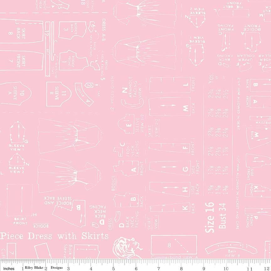 Bee Backings & Borders Pattern Pink 107/108 Wide WB6421-PINK