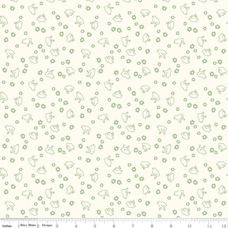 Bee Backings & Borders Chick Green 107/108 Wide WB6423-GREEN