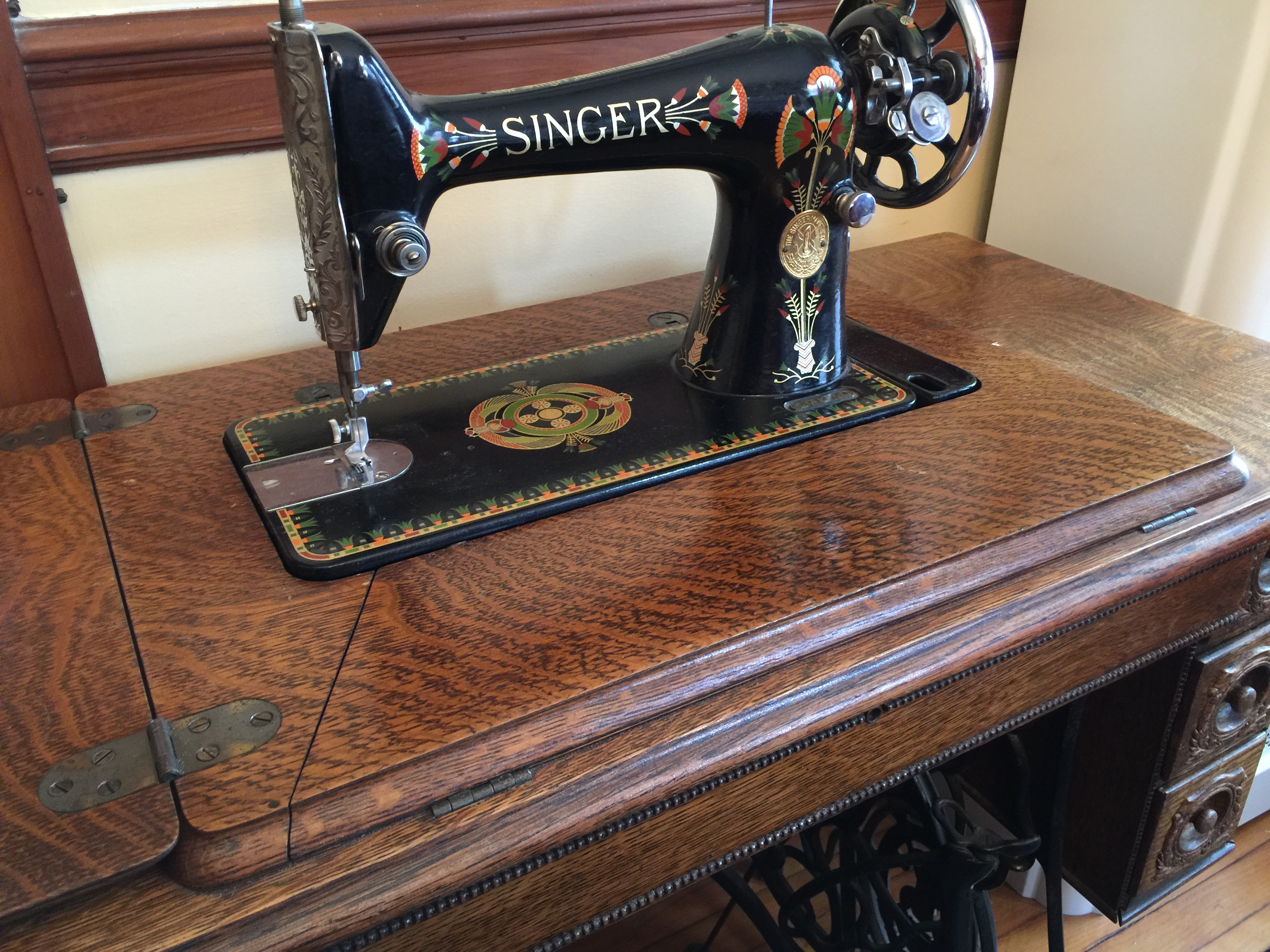 talk tag a could sewing singer these machine if cleaning threads table dirty cabinet