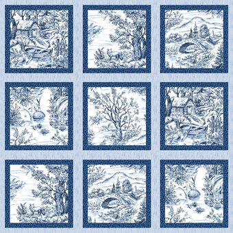 Blank Quilting Woodland Forest Panel  8035 7