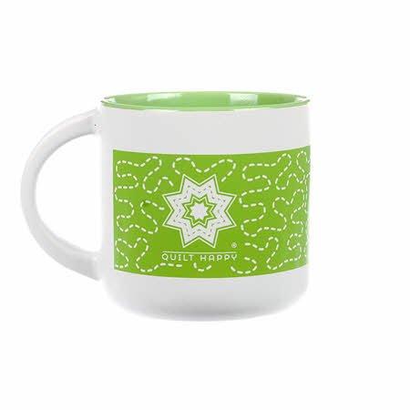 Quilt Happy Meandering Mug-Lime QH144-LI