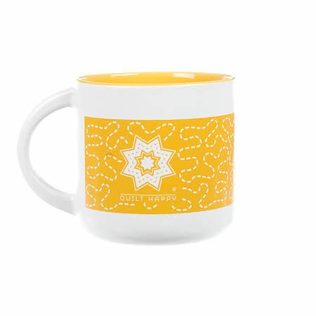 Quilt Happy Meandering Mug-Sunshine QH144-YE