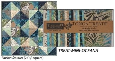 Timeless Treasures Tonga Treats Mini Oceana