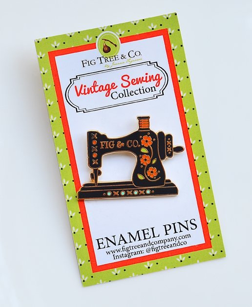 Fig Tree & Co. Vintage Sewing Collection Enamel Lapel Pin ftq pin 103