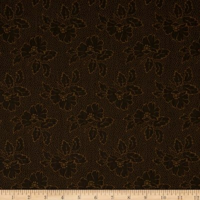 Andover Fabrics Sequoia Silhouette Floral Black Bear A 8752 N