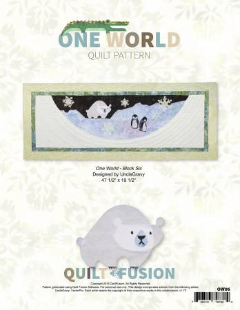 Quilt Fusion One World Quilt Pattern Block 6 Polar Bear OW06