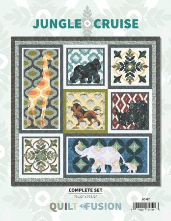 Quilt Fusion  Jungle Cruise complete set pattern JC-07