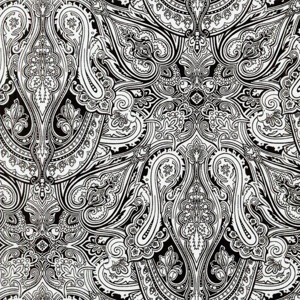 RJR Fabrics Monochrome Black White/Black 1252 001