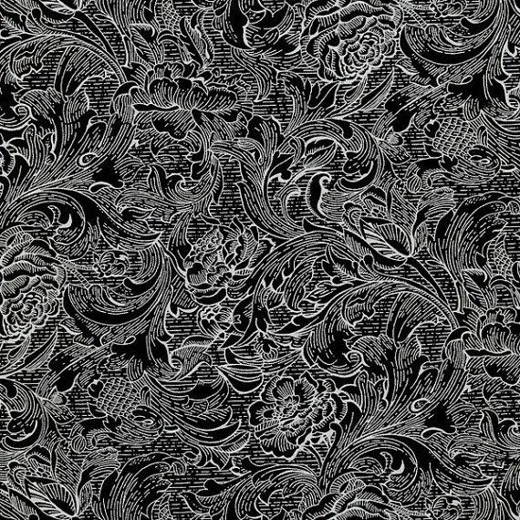 RJR Fabrics Monochrome Black/White 1250 001