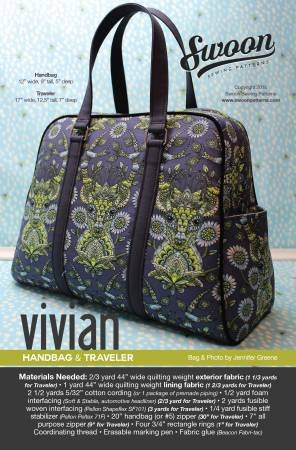 Swoon Sewing Patterns Vivian Handbag & Traveler - 635797629075