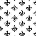 Windham Fabrics Love from Paris Fleur de Lis White 50591-2