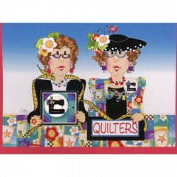 Quilter's Greeting Card with Pin  Blank