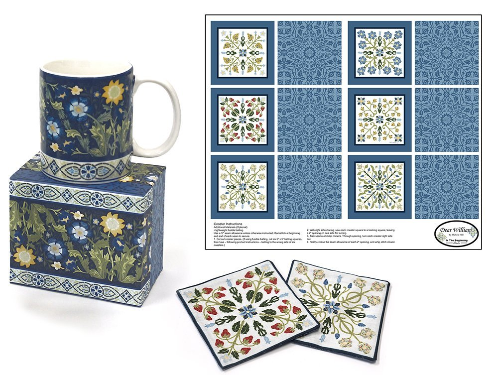 In the Beginning Fabric Giftware Mug/Coasters Dear Williams 200CM-4