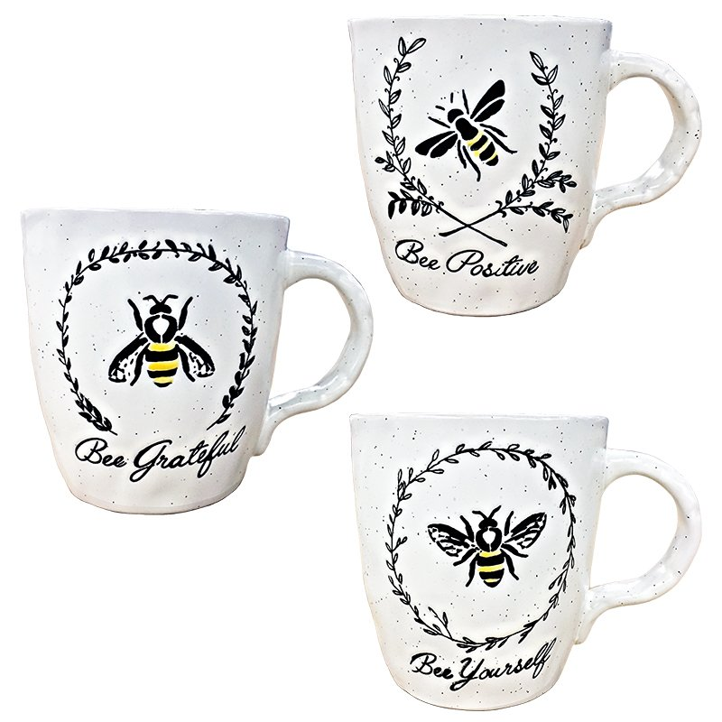 Mug 17oz Asst Bee Garland