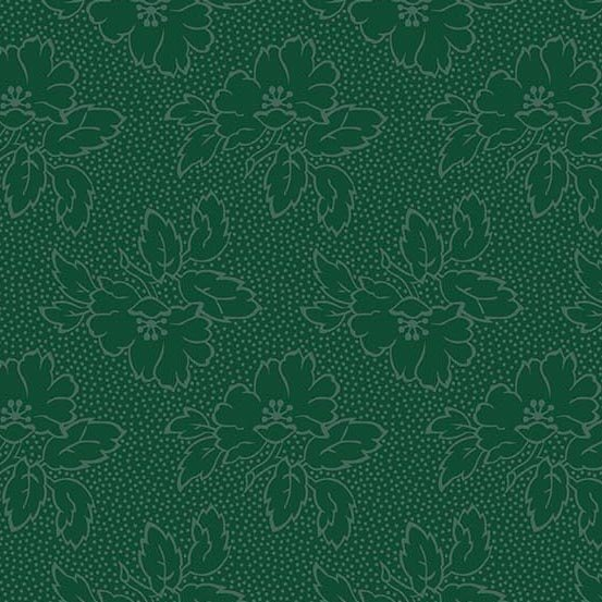 Andover Fabrics Sequoia Silhouette Floral River Blue A 8752 T