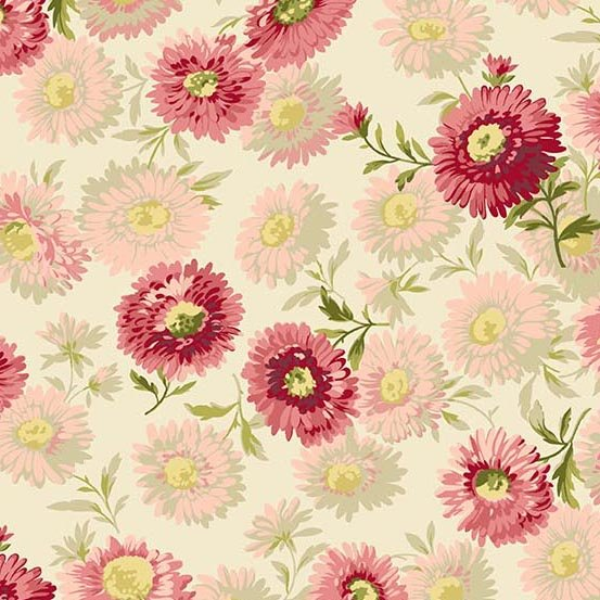 Andover Fabrics Sequoia Daisies Touch of Pink A 8751-E