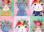 Blend Fabrics Floral Pets Cats 129.101.02.1