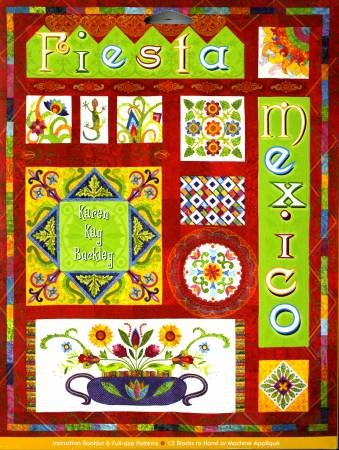 Fiesta Mexico Applique Quilt Pattern by Karen Kay Buckley