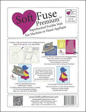 Soft Fuse Premium Paperbacked Fusible Web 10 8 X 9 Sheets