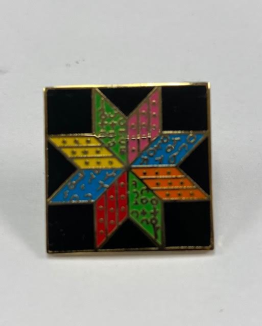Pin Peddlers Eight Pointed Star Push Pin