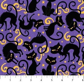Northcott Studio Hallows Eve 5021 85 Cats