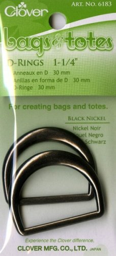 Clover Needlecraft D-Rings 1 1/4'' Black Nickle 6183