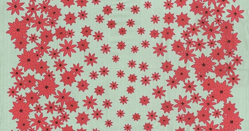Moda Winters Lane Poinsettias M 13091 14