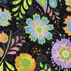 RJR Fabrics Bloom Crazy Black 1628 003