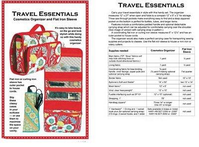 Patterns by Annie Travel Essentials Bag Pattern PBA201