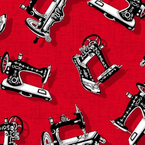 Henry Glass & Co. And Sew On 9621 8 Machines on Red