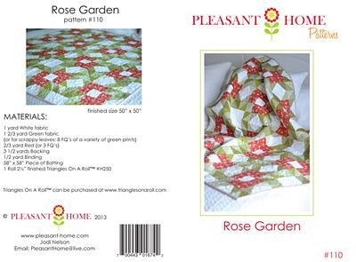 Pleasant Home Rose Garden Pattern