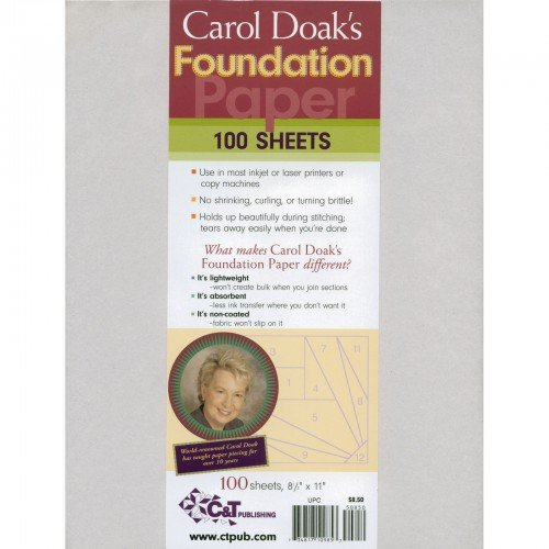 Carol Doak's Foundation Paper 100 Sheets 10985