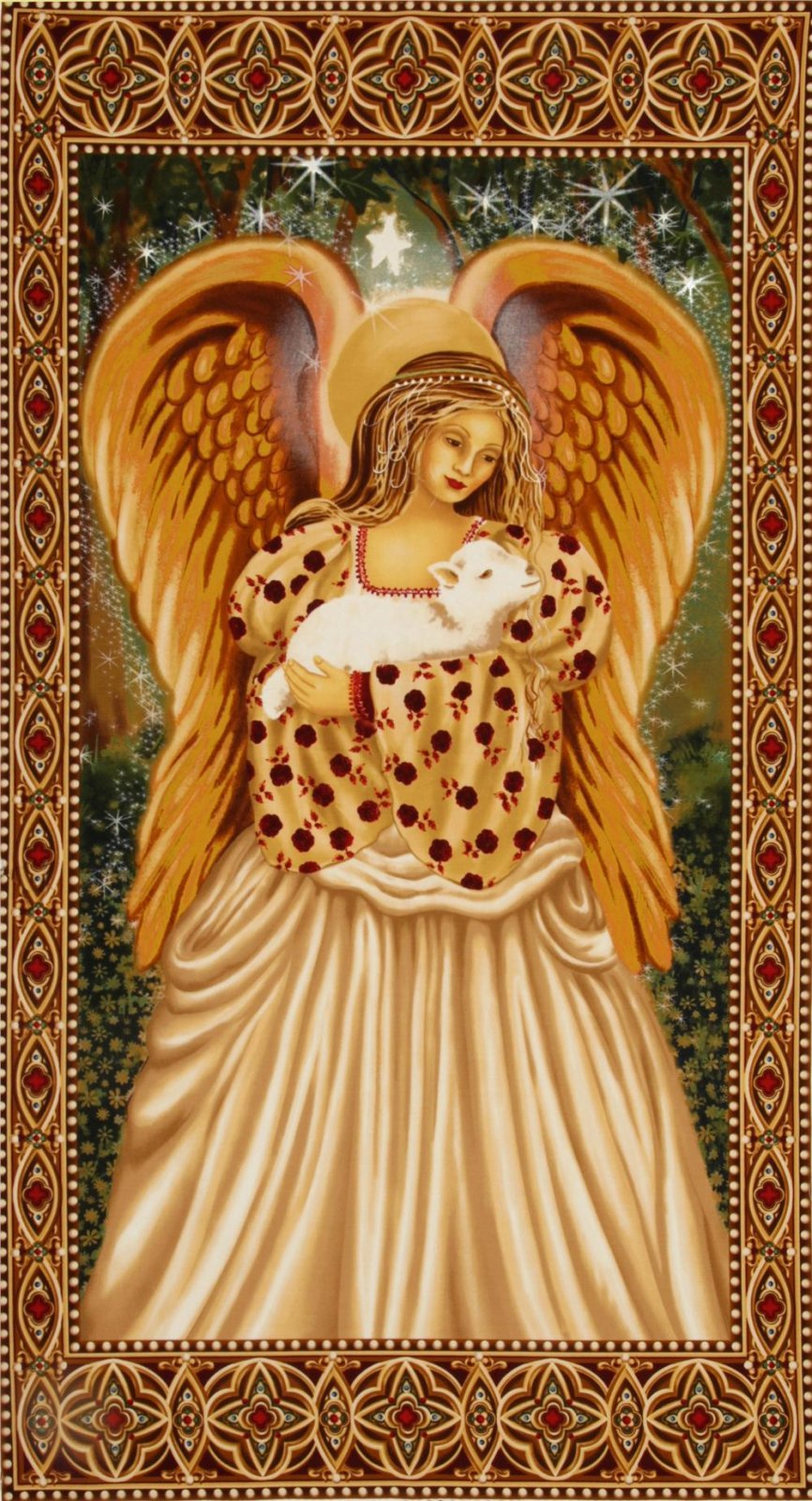 Michael Miller Fabrics Panel Golden Angel  CX4648