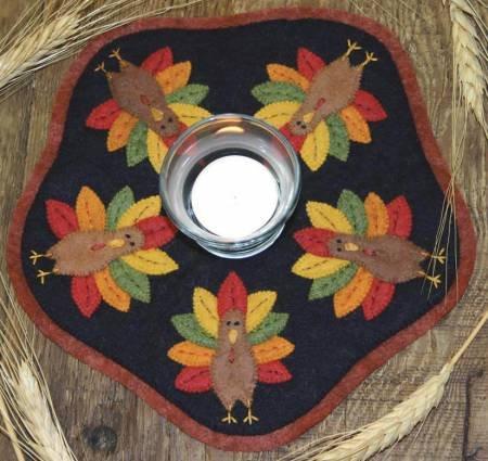 Bareroots Little Stitches Turkey Candle Mat Kit 153