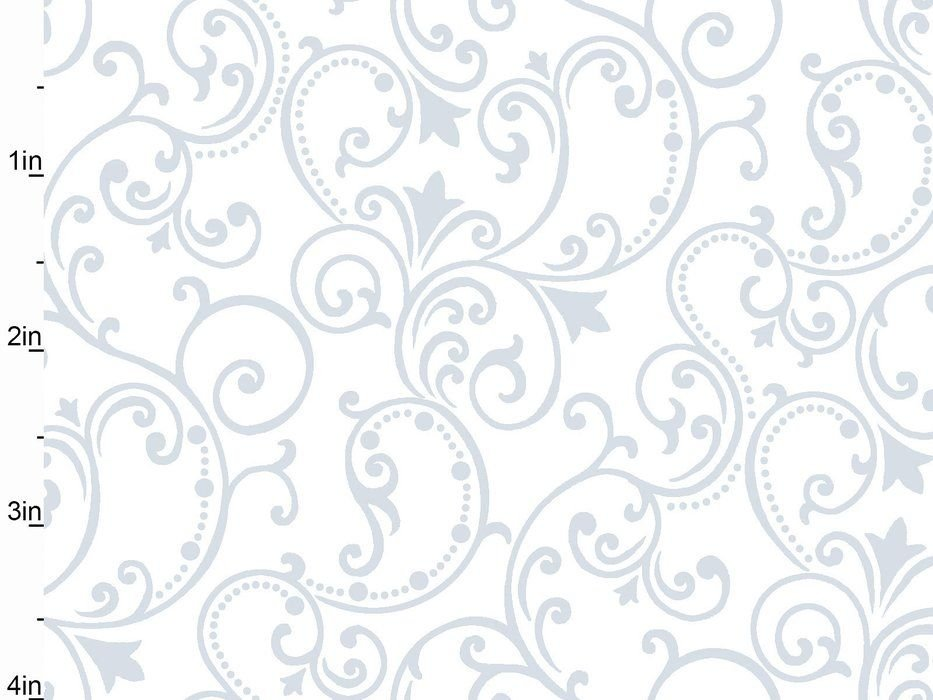 Studio E Fabrics Pearle Scroll White 2237-00