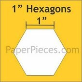Paper Pieces 1 Hexagons HEX100