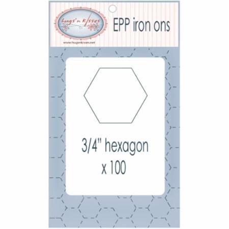 Hugs' n Kisses EPP Hexie Iron On 3/4  Water Soluble